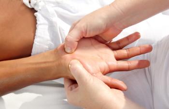 Digital pressure hands reflexology massage tuina therapy